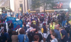 Chicago marches against the bankers
