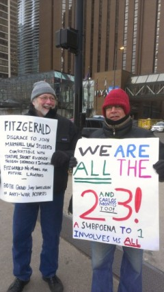 Protest slams ex U.S. Attorney Fitzgerald