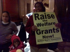 WRC members protest at Dayton's State of the State address.