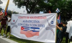 March in solidarity with Cuba July 27 in San Salvador