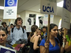 Occupation of an administration building at UCLA.
