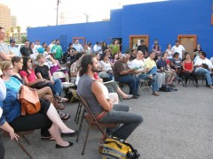 Community members and activists gathered at a Puente assembly in Phoenix to prep