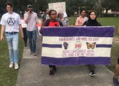 Tampa Bay SDS marches to the Patel Center, USF Campus.