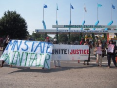 #InjusticeOnAStick protest shuts down Minnesota State Fair.