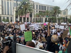Huge protest against police crime in Jacksonville, FL.