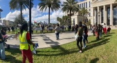 Jacksonville protests repressive legislation  and demands justice for victims of