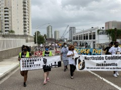 """Jacksonville, FL march demands""""Free them all, people's budget now."""""""