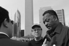 Reverend Jesse Jackson with CANG8 organizer Joe Iosbaker, announcing his support
