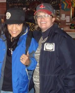 """Karen Sullivan"" (right) with her associate ""Daniela Cardenas""."