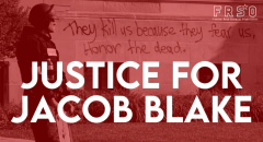 Justice for Jacob Blake graphic by FRSO