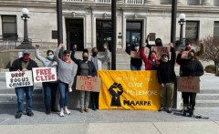 Kenosha protest demands drop the charges against Clyde McLemore.