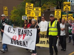 Minneapolis anti war march.