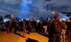 Protest outside South LA Sheriff station.