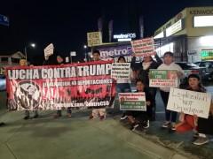 LA protest against Trump's wall.