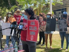 LA press conference demands justice, urges community to join August 29 protest.