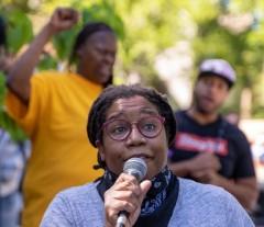 Loretta VanPelt of Twin Cities Coalition for Justice 4 Jamar (TCC4J).