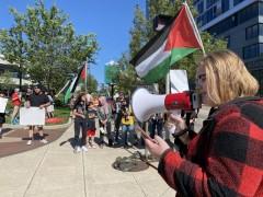 Palestine solidarity in Grand Rapids, Michigan.