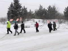 Minnesota Teamsters on the picket line.