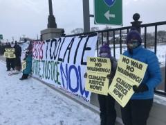 St Paul protest demands President Biden do more on climate change.
