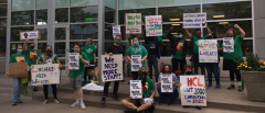 AFSCME workers demand funding and staff for public libraries.