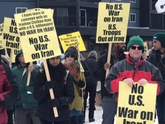 Twin Cites protest against a U.S. war on Iran