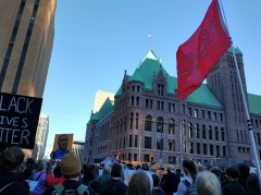 Minneapolis protest demands justice for George Floyd.