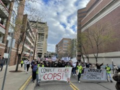 U of MN students march against police crimes.