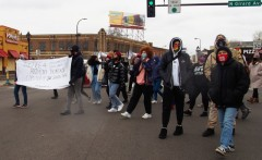 Justice for Anthony Thompson, Jr. march in Minneapolis, MN.