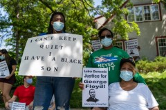 Protest called by Minnesota Workers United demands justice for George Floyd.