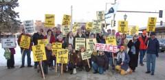 Minneapolis protest against U.S. wars.