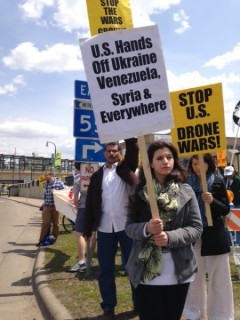 May 17 anti-war and anti-drone protest in Minneapolis.