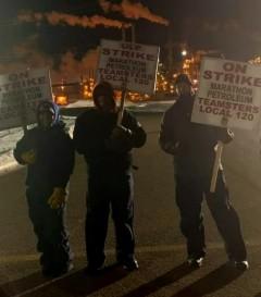Teamster Local 120 on strike.