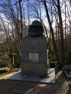 Grave of Karl Marx at Highgate Cemetery