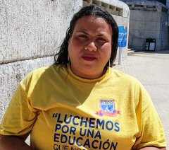 Mercedes Martínez, President of the Puerto Rican Teachers Federation