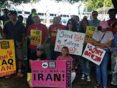 Florida protest against U.S. war on Iran.