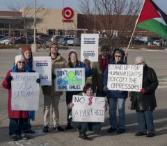 Milwaukee protest against Israeli apartheid.