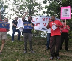Workers at Milwaukee VA stand up to union busting.