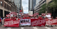 Massive June 20 immigrants rights march in Minneapolis.