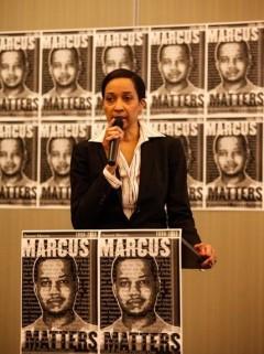 Monique Cullars-Doty, aunt of Marcus Golden.