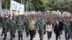 President Maduro (center)