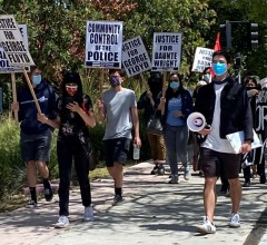 Northern California Unemployed Committee marchs against police crimes