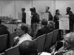 Students protest at UNC Board of Trustees meeting