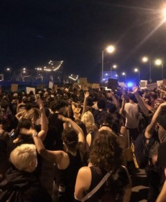 Protest against police crimes in New Orleans.