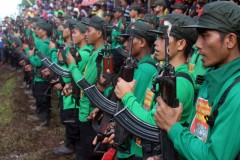 Red fighters of New People's Army.
