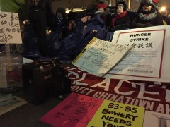 NYC hunger strikers protest mass evictions and gentrification.