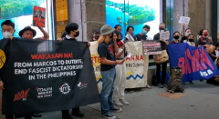 Protest against repression in the Philippines.