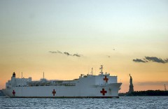 USNS Comfort in NYC.
