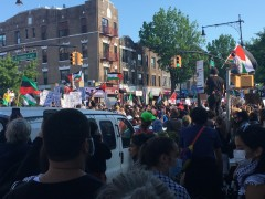 Nakba marked in NYC, 50,000 march for Palestine.