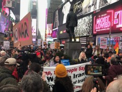 NYC protest against U.S. war on Iran.