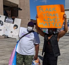 NYC rally to protect Black trans women.